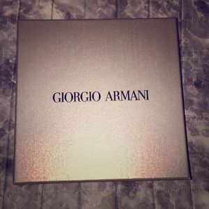 Giorgio Armani grey box with black logo